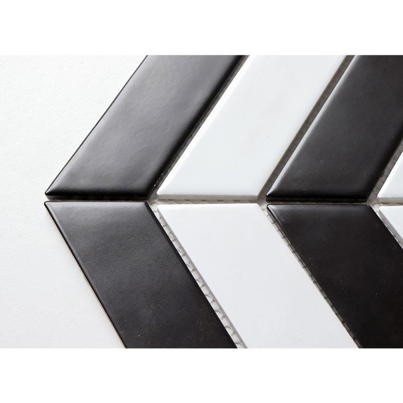 China 318 5x224mm Black And White Design Kitchen Bathroom Mosaic Wall Tiles China Ceramic Tile Decorative Tiles