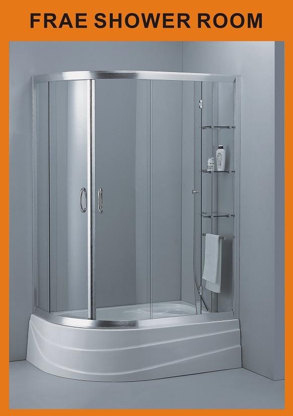 China Steam Shower Enclosure Corner Double Sliding Door Screen ...