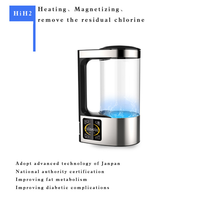 Easy to Operate Anti-Aging Supplement Hydrogen Water Anti Oxidant Alkaline Hydrogen 2L Pitcher