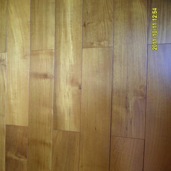 China Hand Scraped Teak Wide Plank Natural Hardwood Floor China