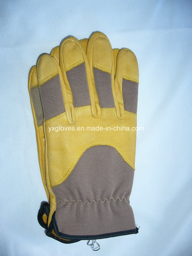 Mechanic Glove -Cow Leather Glove-Working Glove-Safety Glove- pictures & photos