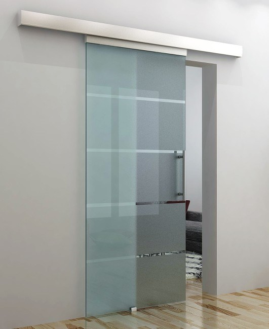 China Tempered Frosted Glass Sliding Door Glass Door