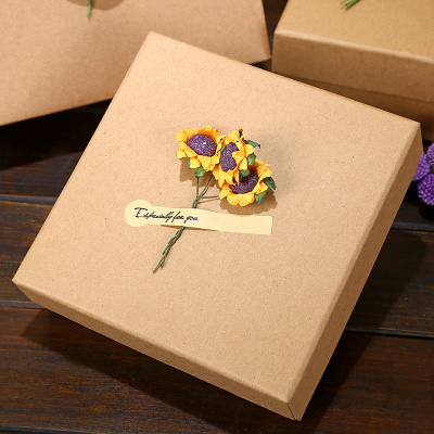 Hot Item Large Kraft Paper Snacks Gift Boxes Empty Boxes Square Sky Covers Birthday Gifts Boxes Gift Boxes Packages