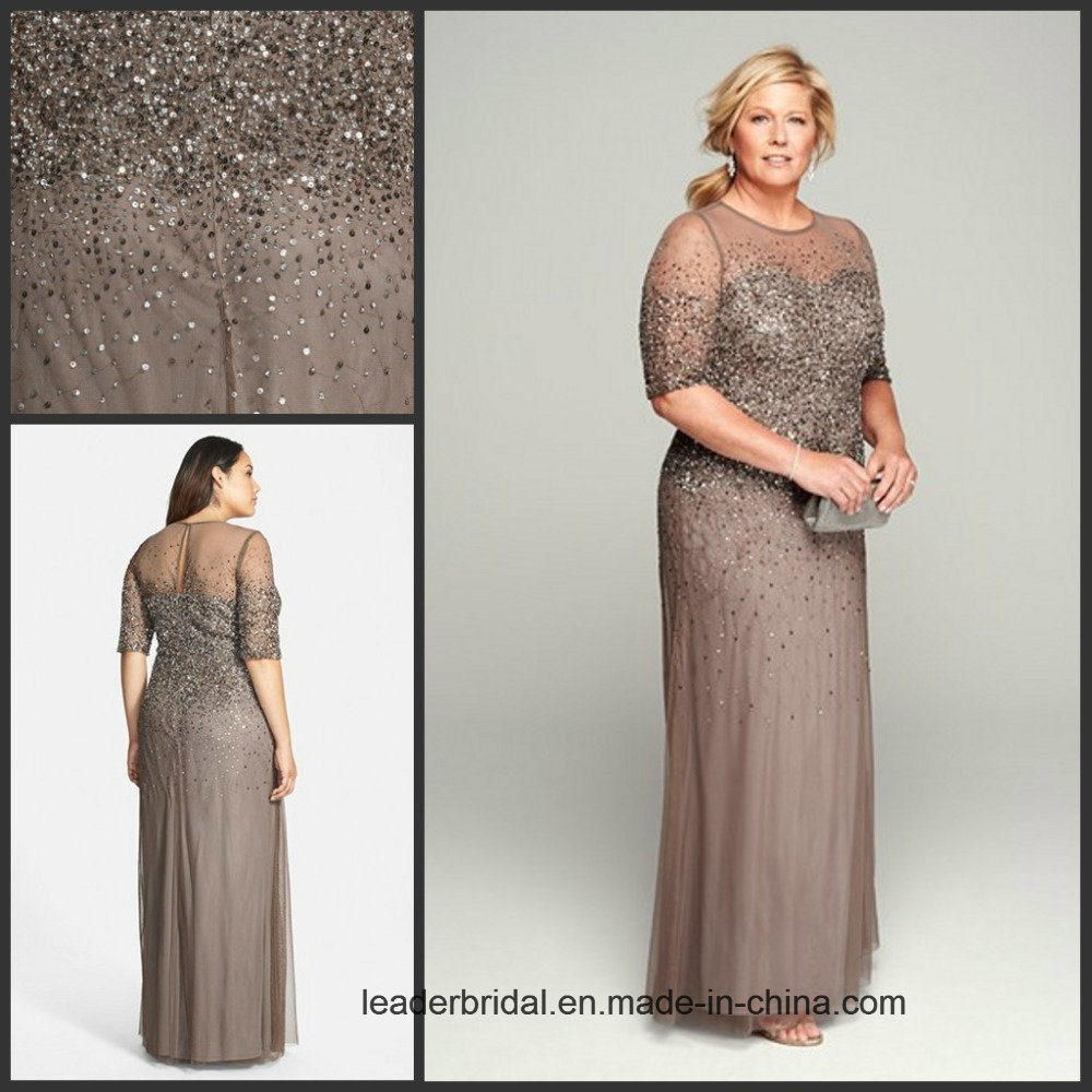 China Plus Size Mother Formal Gown Chiffon Beading Evening ...