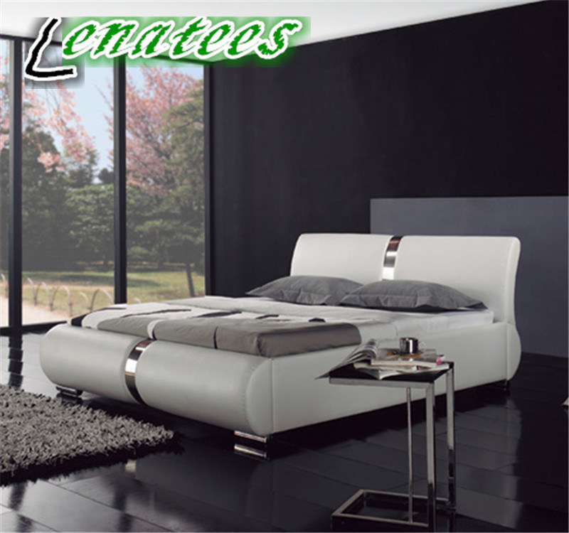 China A077 Modern Bedroom Furniture Latest Bed Designs