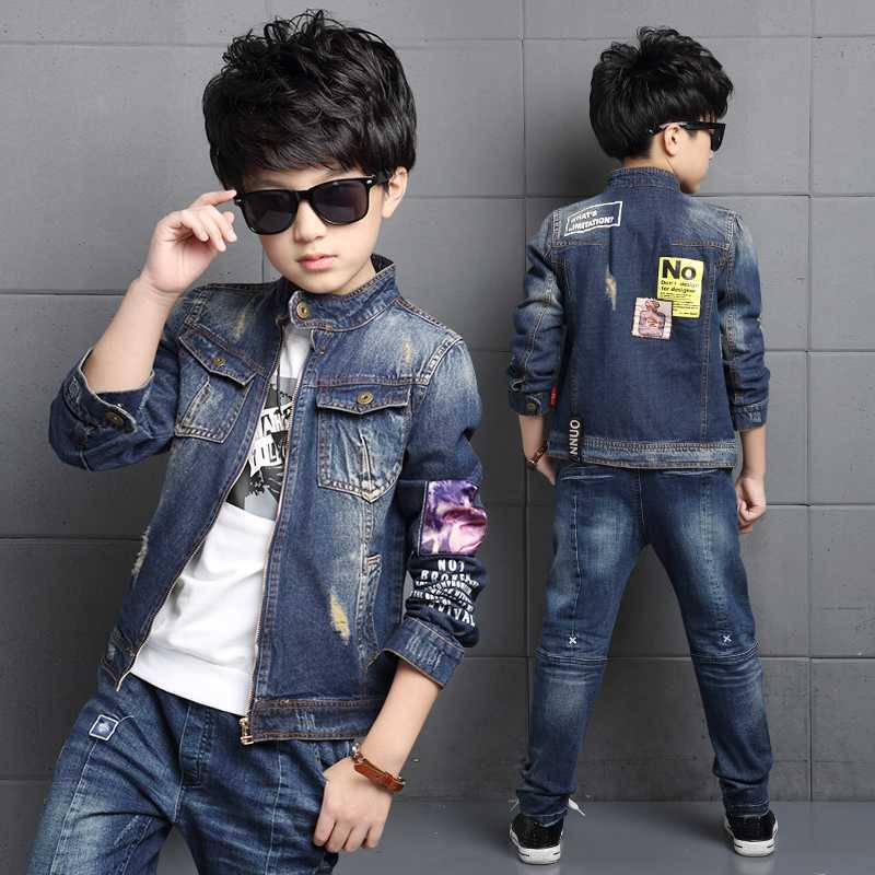 fab261d993f 2018 New Fashion Baby Boys Clothes Long Sleeve Jeans Coat Babe Boys Jeans  Jacket Denim Outerwear Children′s Clothing Winter Kids Hip Hop Popular  Custom ...