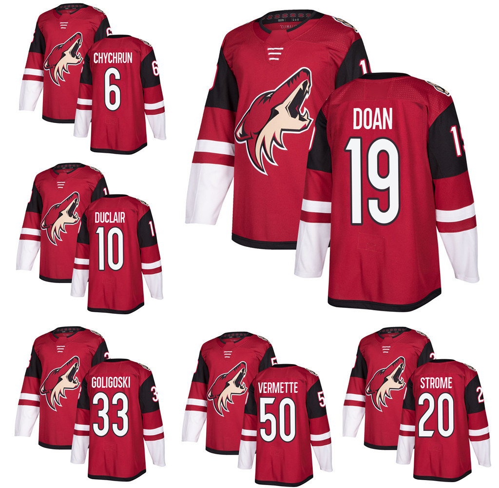 super popular efdf8 ae544 [Hot Item] Mens Arizona Coyotes Shane Doan Clayton Keller Hockey Player  Jersey
