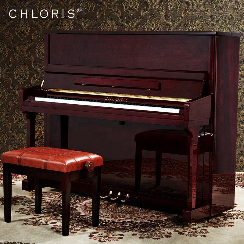 Amazing Hot Item Chloris Piano Mahogany Wooden Upright Piano Hu 123M With Solid Wood Piano Stool Customize Color Gmtry Best Dining Table And Chair Ideas Images Gmtryco