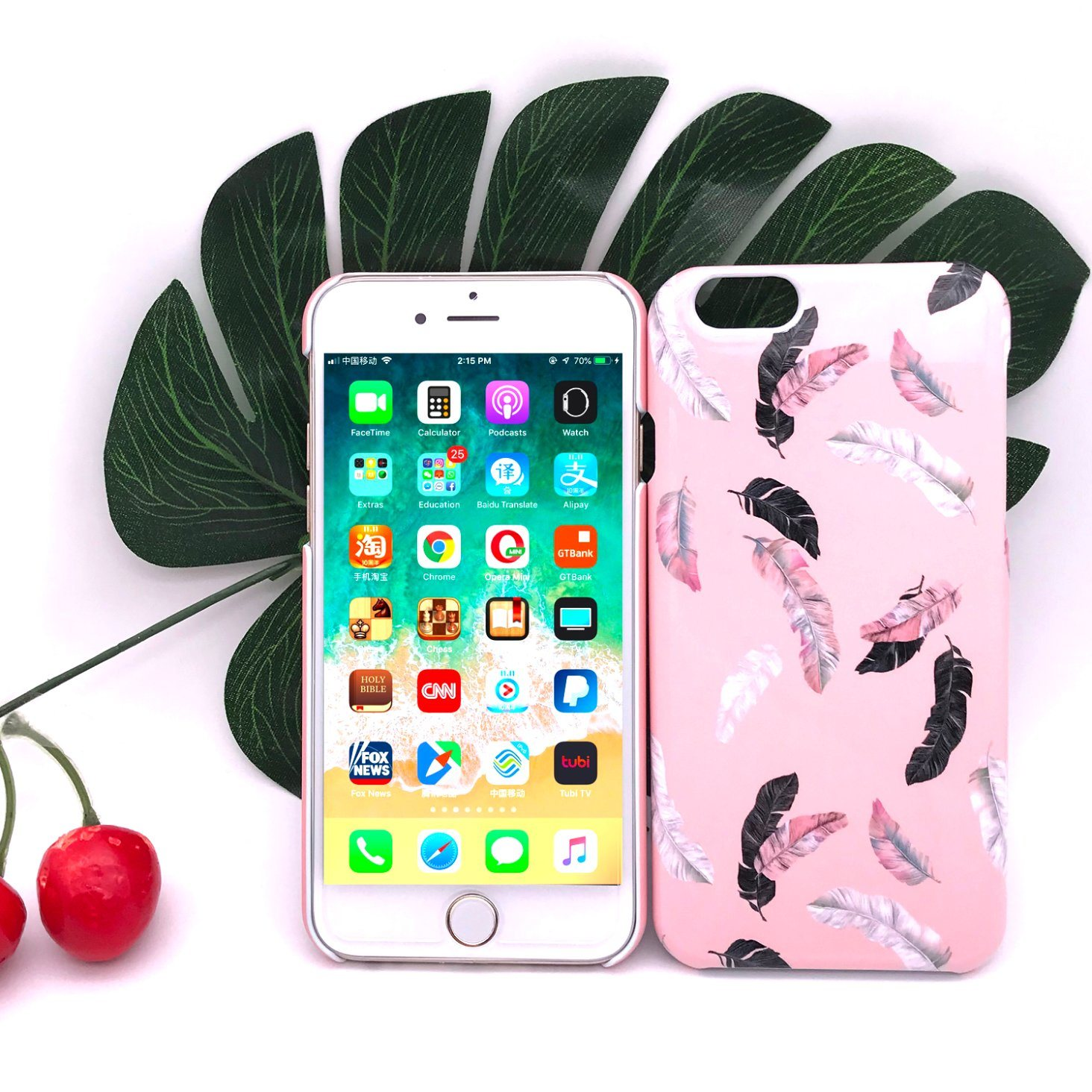 [Hot Item] OEM Romantic and Elegant Feather Hard Plastic Cover for iPhone  (6/7/8/6s/8s/X Plus/Xs Max/Xr/Xs/8plus)