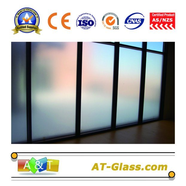 China 4mm-12mm Acid Etched Glass/Frosted Glass Used for Furniture ...