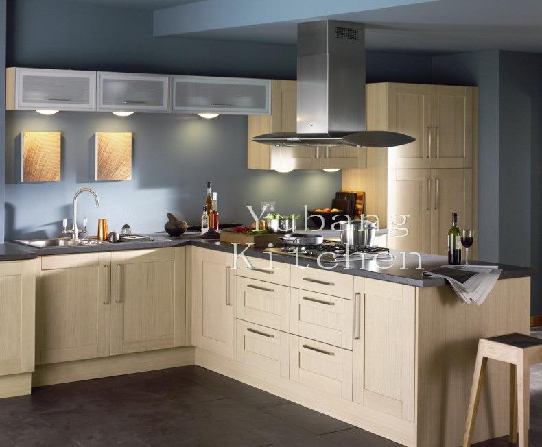 Hot Item 2017 New Design Solid Wood Kitchen Cabinet Home Furniture258
