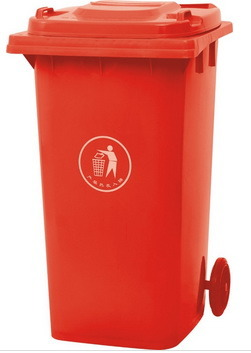 Red 240lt Plastic Garbage Bin Recycled