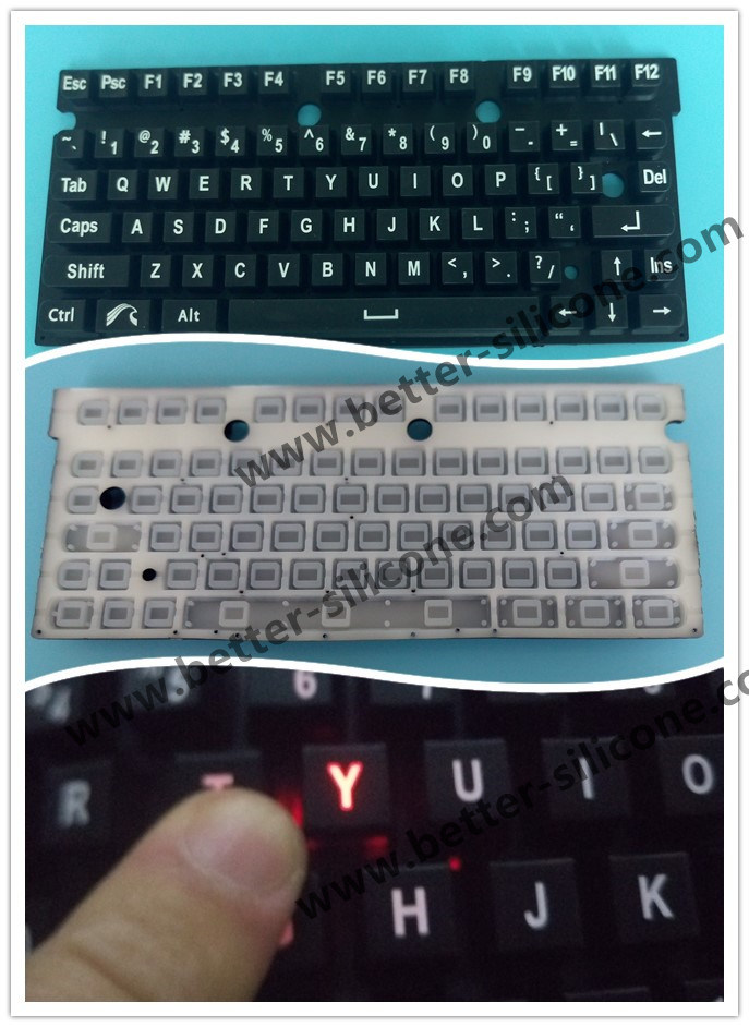 Customized Elastomeric Silicone Rubber Remote Control Keyboard Keypad pictures & photos