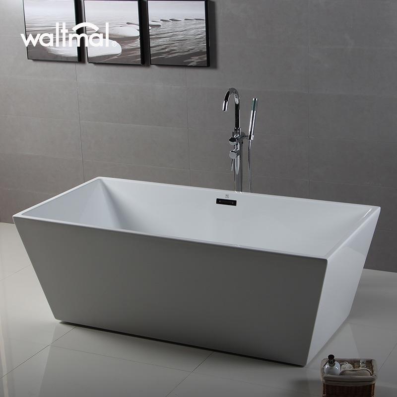 China Luxury Bathroom Design Acrylic Rectangle Bath Tub and Narrow ...
