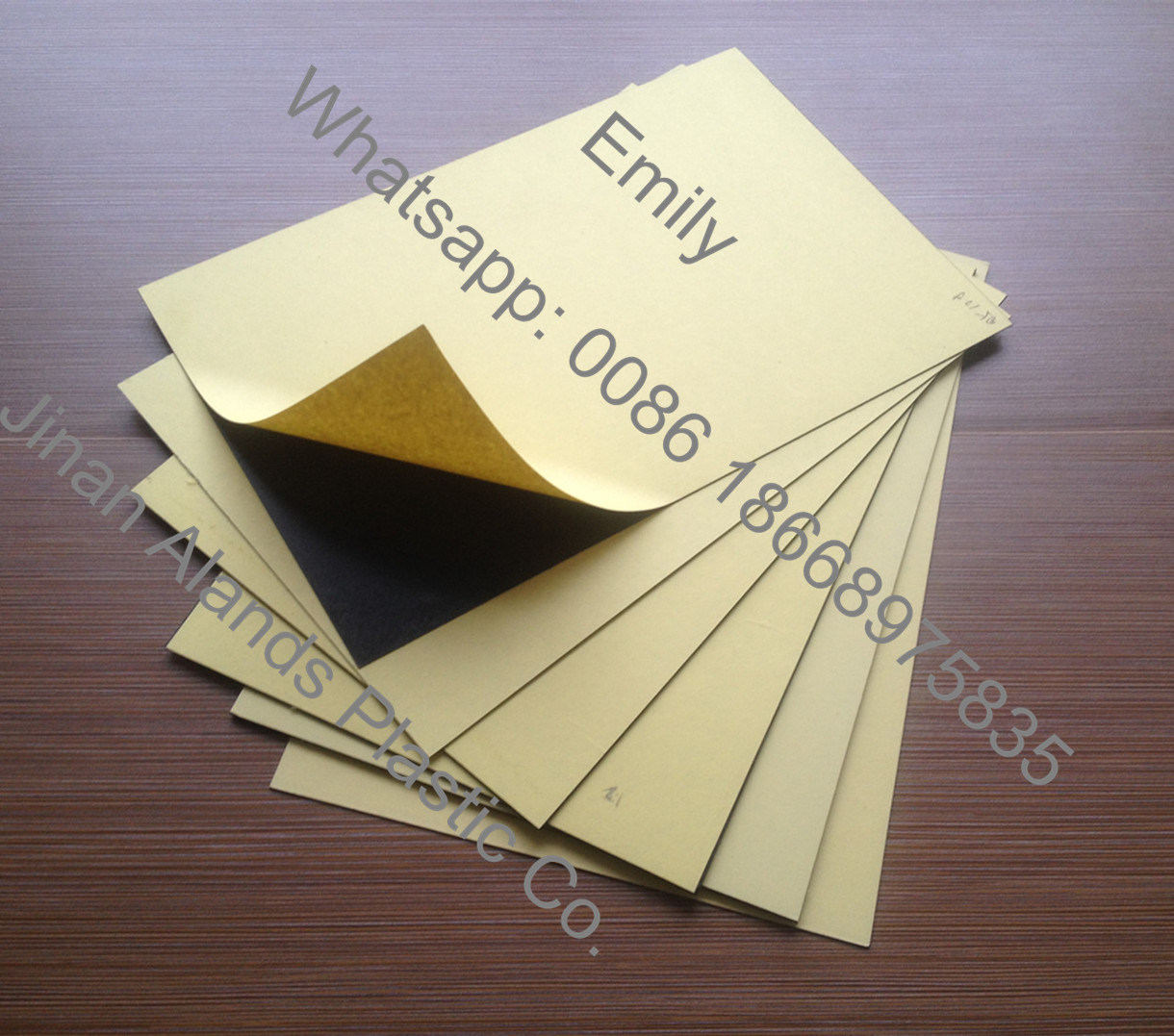Good Hardness Self-Adhesive PVC Sheet to Make Album pictures & photos