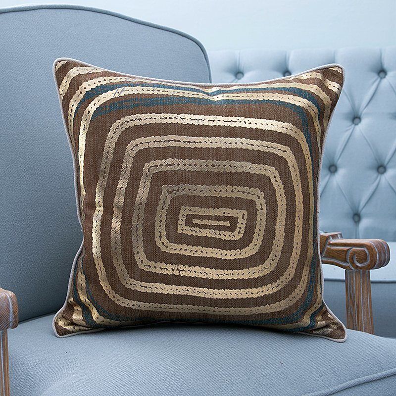 Foil/Gold&Silver Printed Decorative Cushion/Pillow (MX-55)