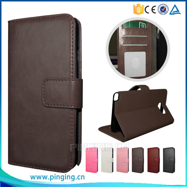 Leather Card Holder Phone Case for Alcatel One Touch Pop up Ot6044 pictures & photos