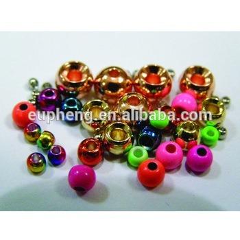 Angelsport-Köder, -Futtermittel & -Fliegen 1000 Silver Nickel Tungsten Fly Tying Beads Assorted Sizes A