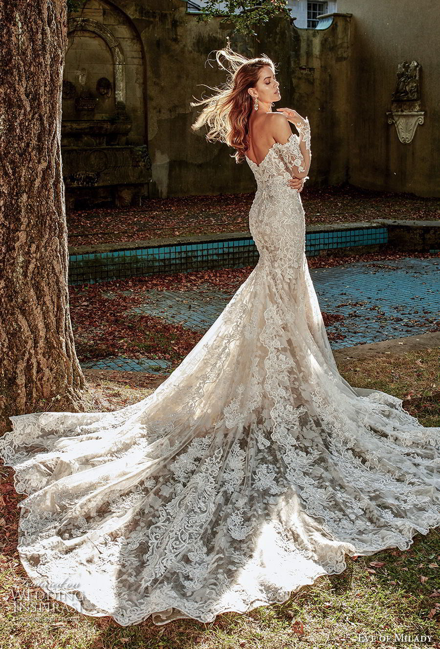 China Long Sleeves Bridal Gowns 2018 New Lace Custom