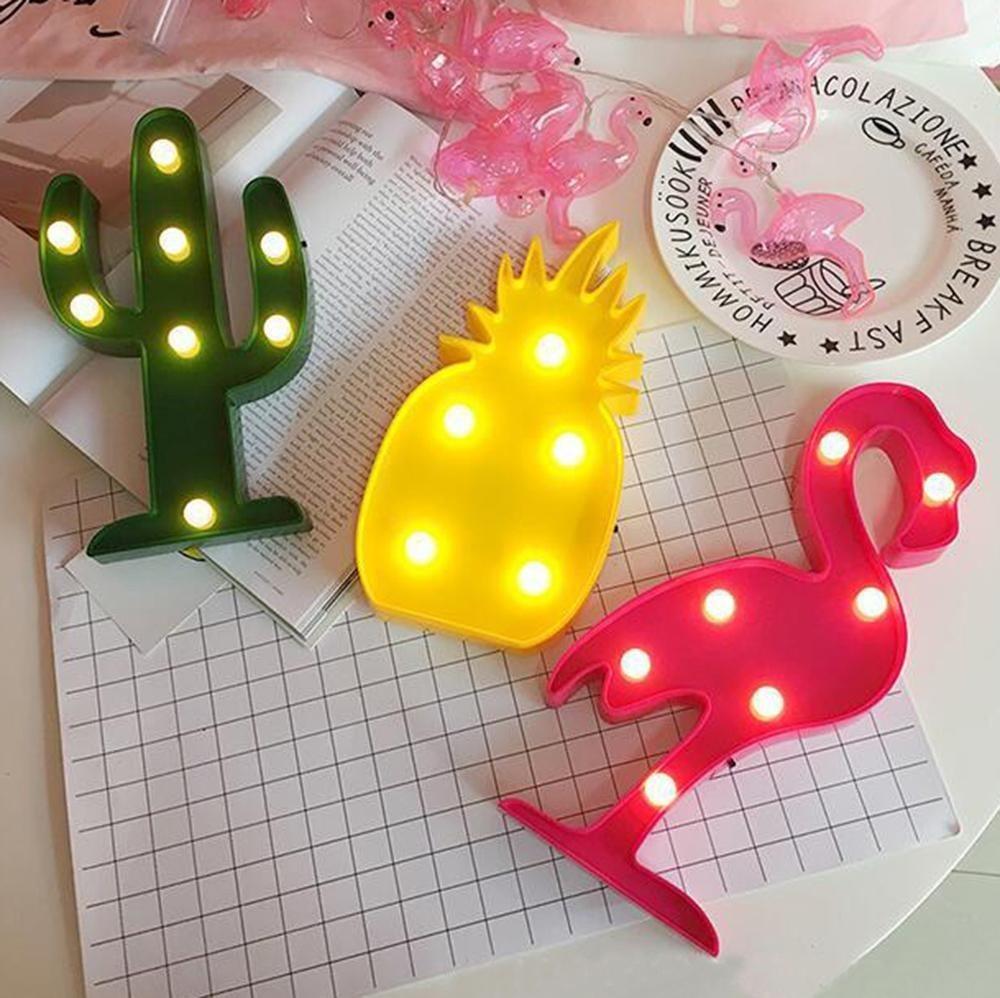China Flamingo Marquee Wall Decor Holiday Birthday Party LED Lamp ...