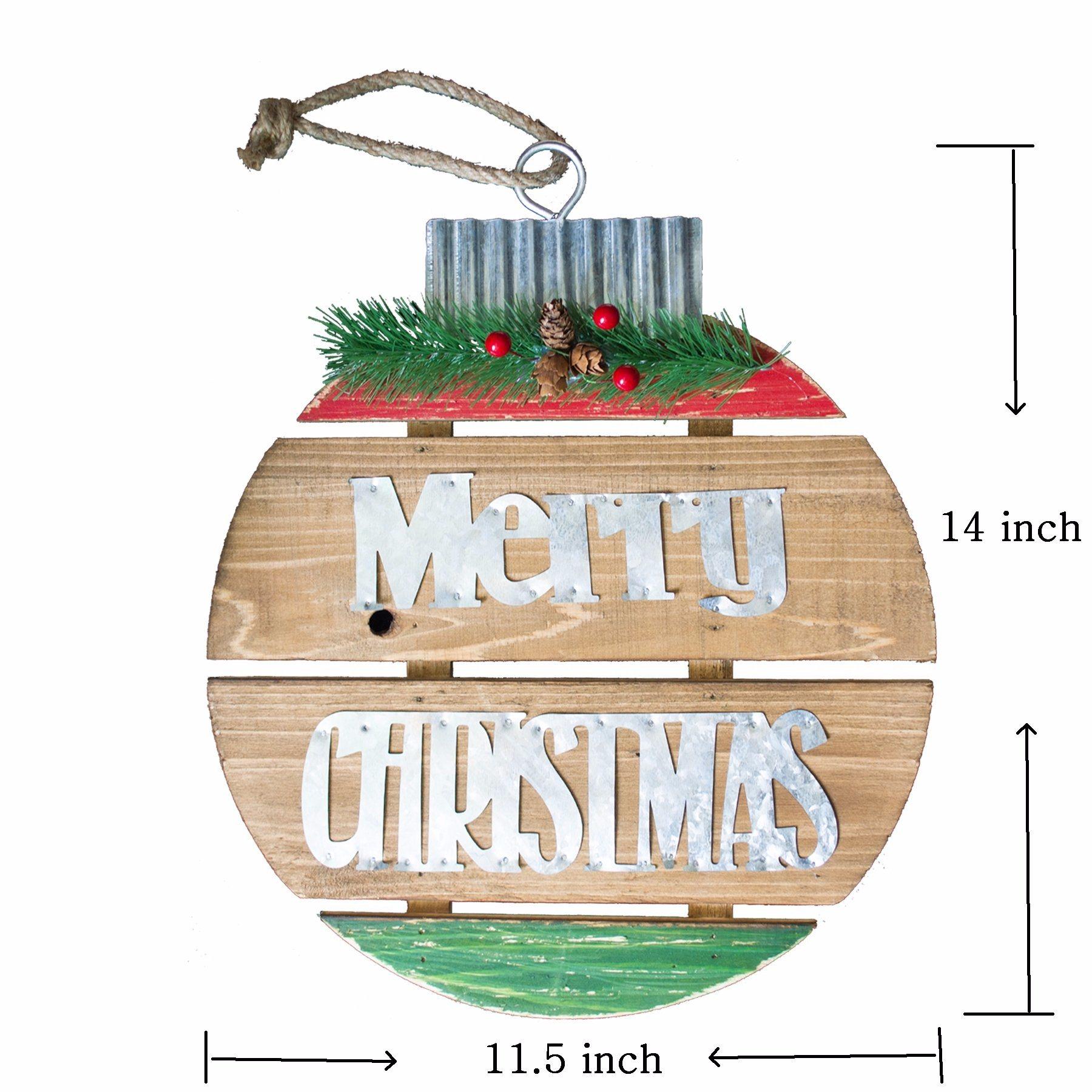China Rustic Wooden Christmas Ball Tin