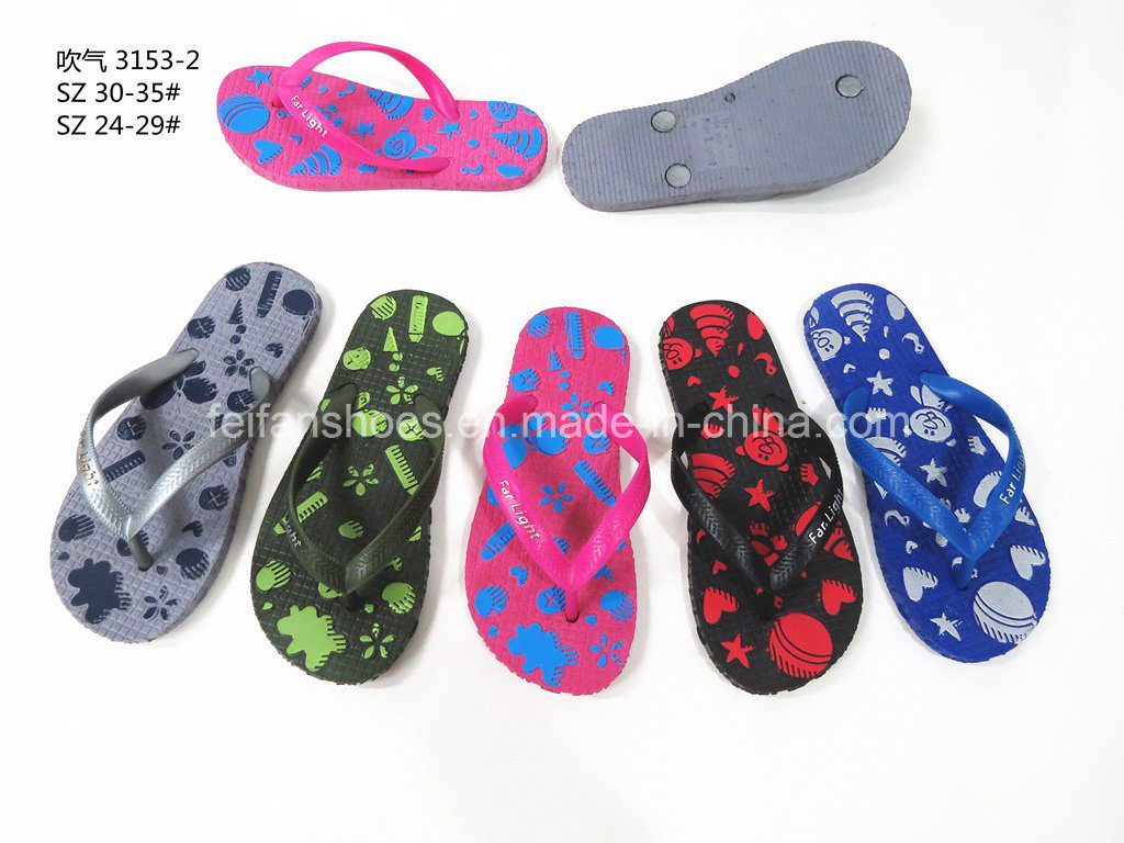 5730570ebc40e Newest PVC Slippers Beach Sandals Flip Flops Footwear Kids (YG828-26)