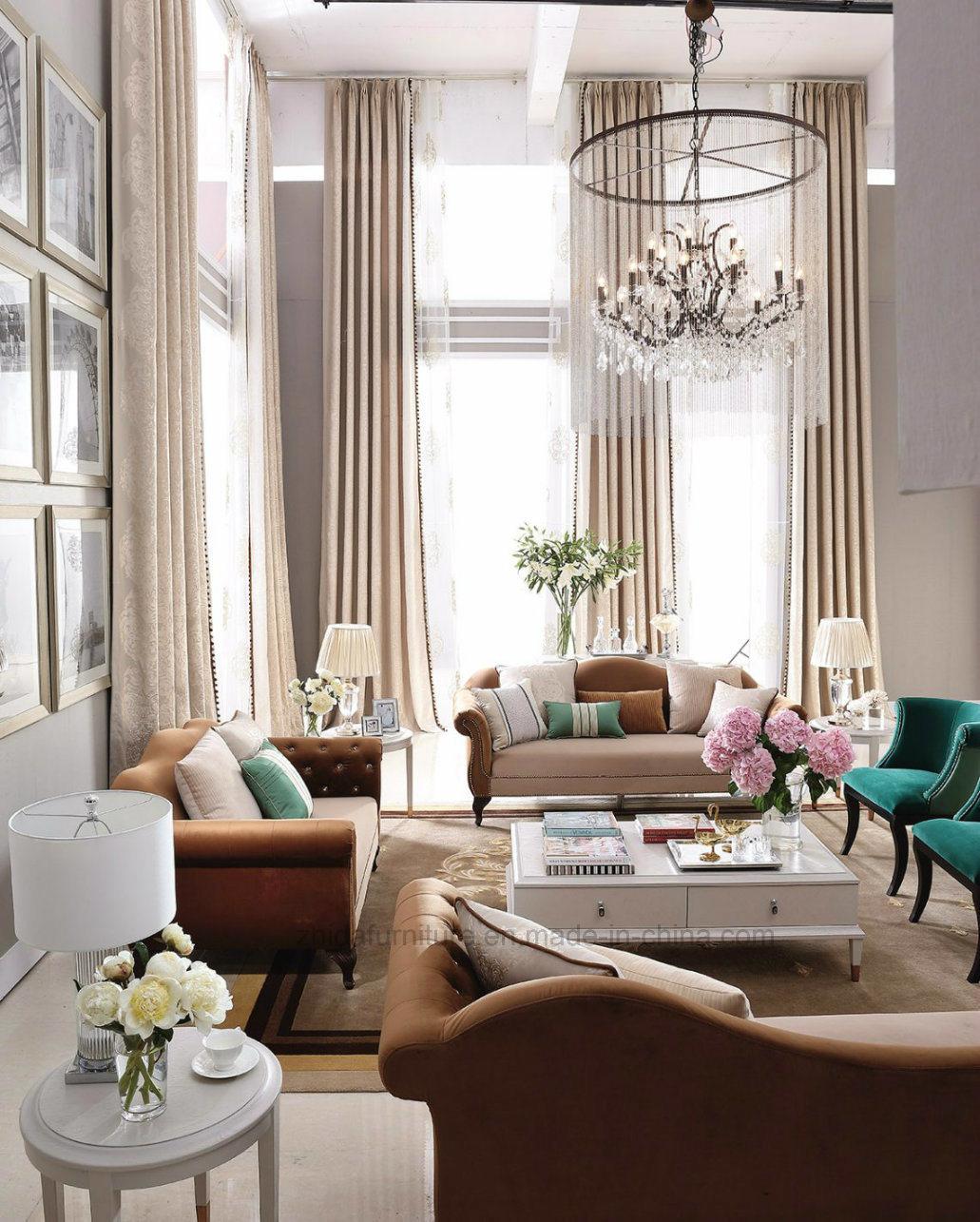 China High Quality Modern Clical Villa Furniture Living Room Sofa