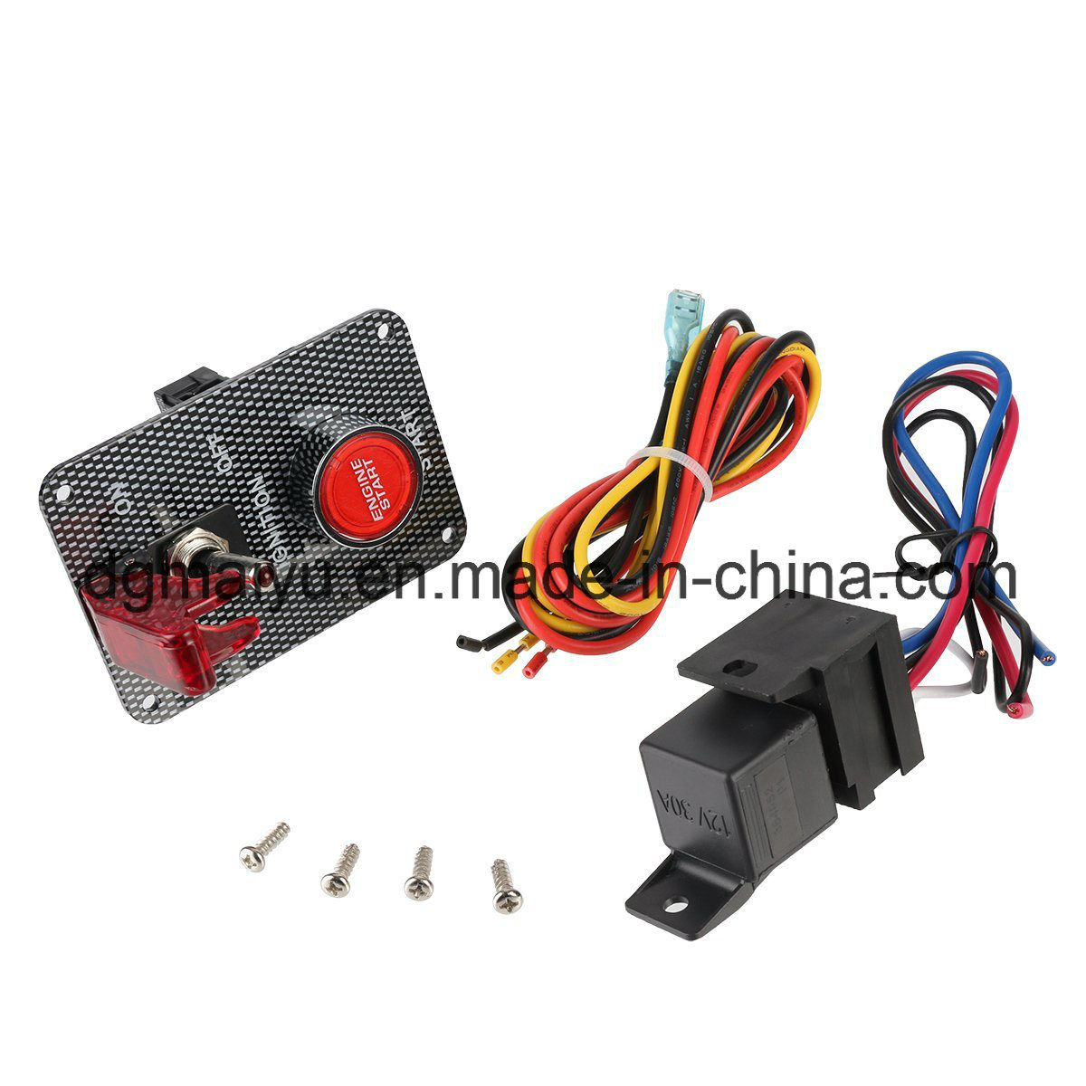 China Carbon Fiber Racing Car 12v Ignition Switch Panel Push Button How Do I Wire A Toggle And The Red Led