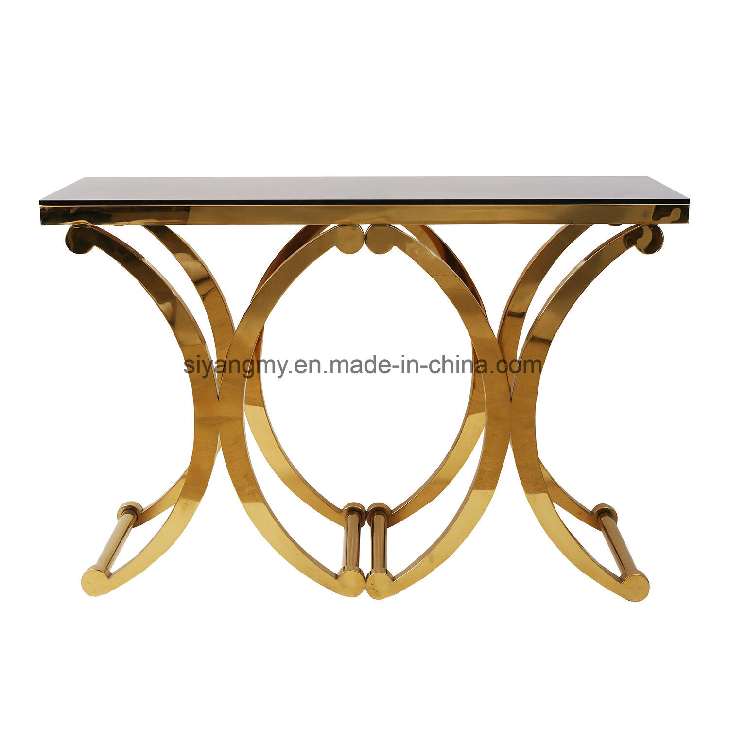 [Hot Item] Venetian Mirrored Furniture Glass Console Table Floating Crystal  Decorative Table