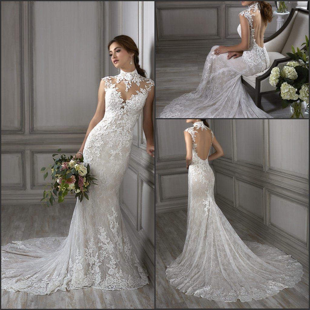 8fd6caf0f5b China 2019 Sleeves Lace Bridal Gowns Choker Mermaid Wedding Dress Lb1012 -  China Wedding Dress