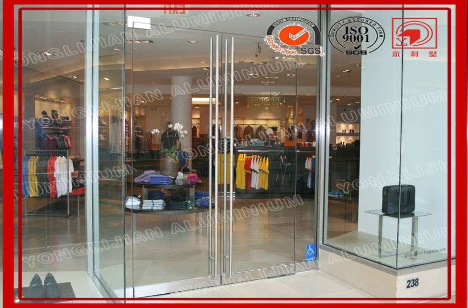 China Frame Less Storefront Glass Door Manufacturer China Frame