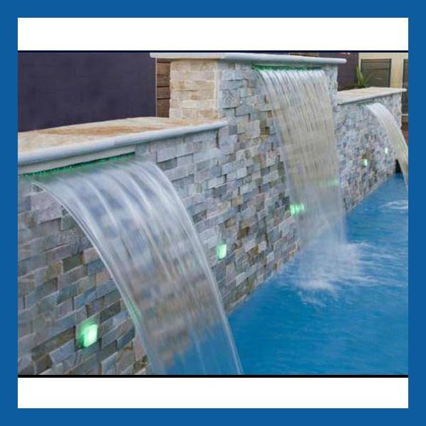 China swimming pool waterfall water feature wall water - Swimming pool waterfalls water features ...