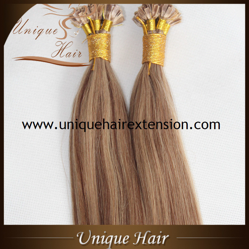 China Wholesale Russian Virgin Keratin Hair Extensions Factory