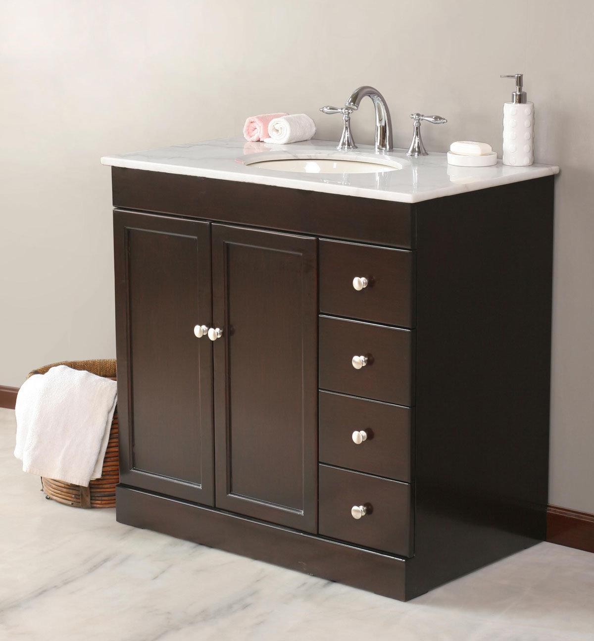 China Granite Top Bathroom Vanity Furniture (MJ-3119