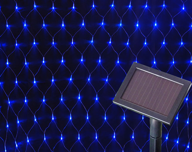 China Outdoor Solar Led Christmas Net Lights For Holiday