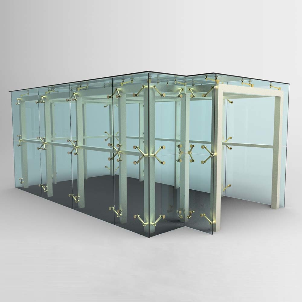 China 304/316 Facade Glass Spider System For Curtain Wall
