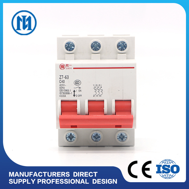China 10ka Electrical Miniature DC 2 Poles 63 AMP Circuit Breaker ...