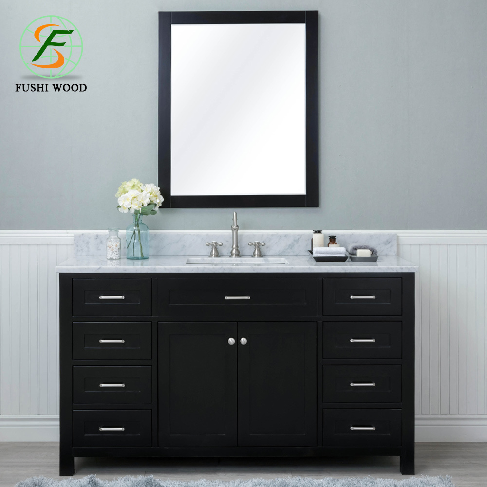 China Wholesale 48 Inch Popular Design Bathroom Cabinets 4 Doors