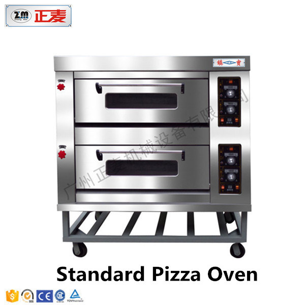 Commercial Pizza Bred 2 Layer and 2 Trays Electric Deck Oven (ZBB-202D)