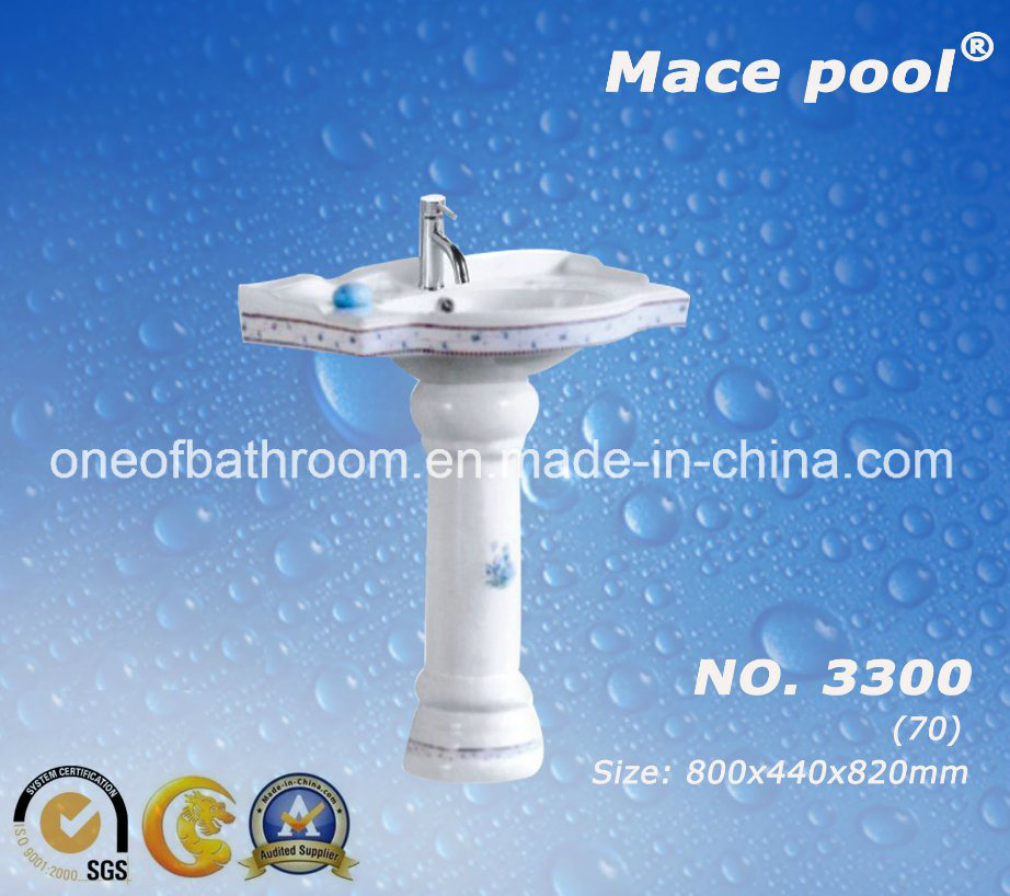 China One Piece Pedestal Basin Wash Sink Used In Bathroom/Public Toilets  (3300)   China Pedestal Basin, Basin