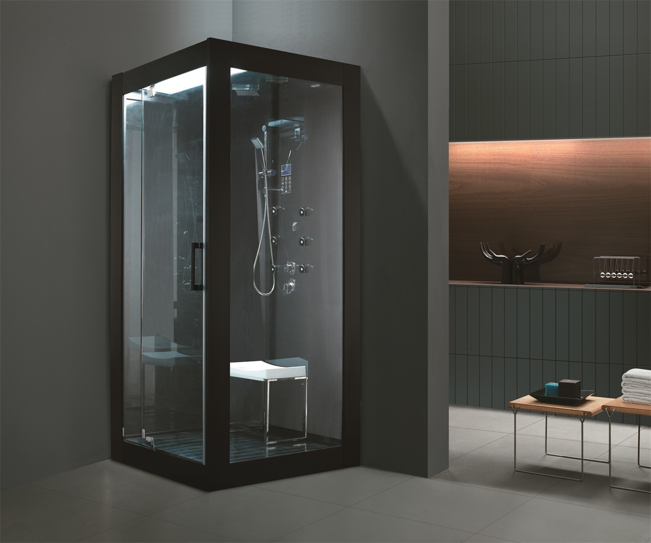 China Monalisa Tempered Glass Wall Shower Steam Cabinet (M-8283 ...