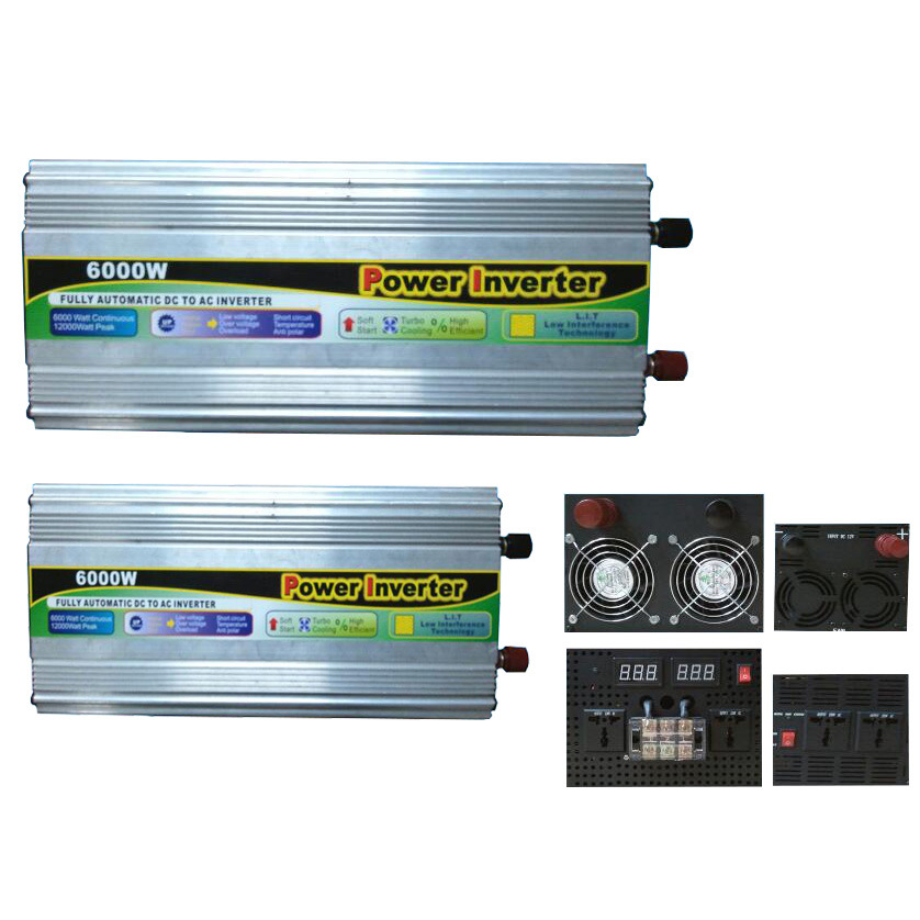 6000W DC12V/24V AC220V/110 Modified Sine Wave Power Inverter pictures & photos