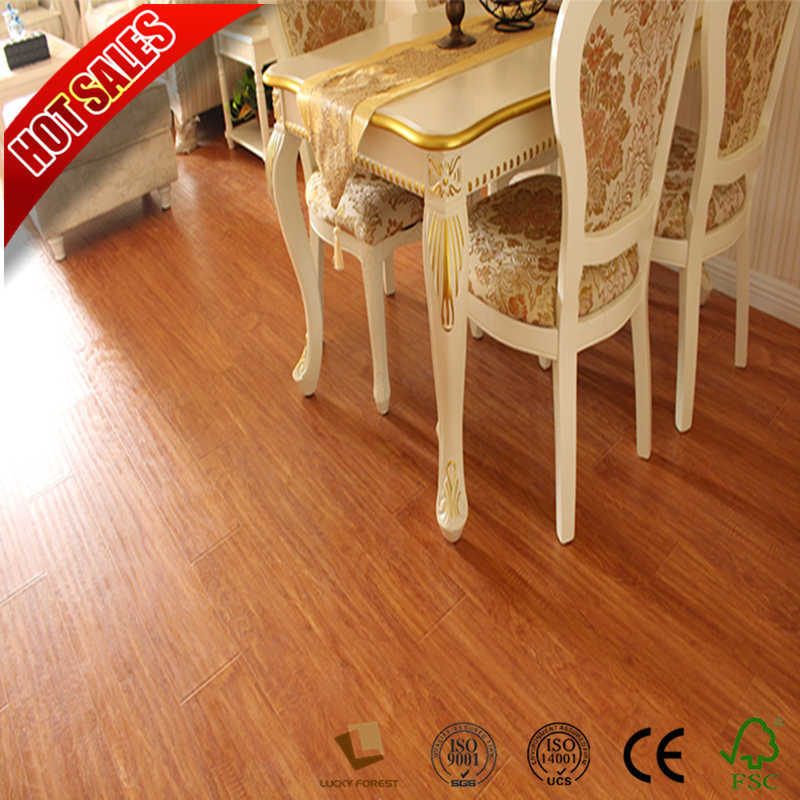 China Hot 8mm V Groove Solid Color Laminate Flooring Cherry Oak Wood Hardwood Building Material
