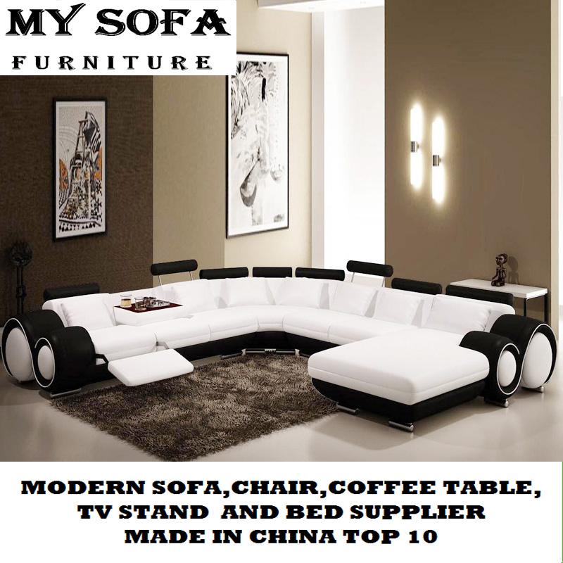 China U Shape Leather Sofa Germany Size Living Room
