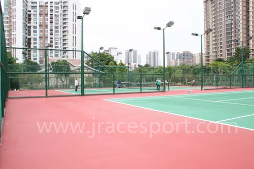 Silicon PU Seamless Design Tennis Court Surface