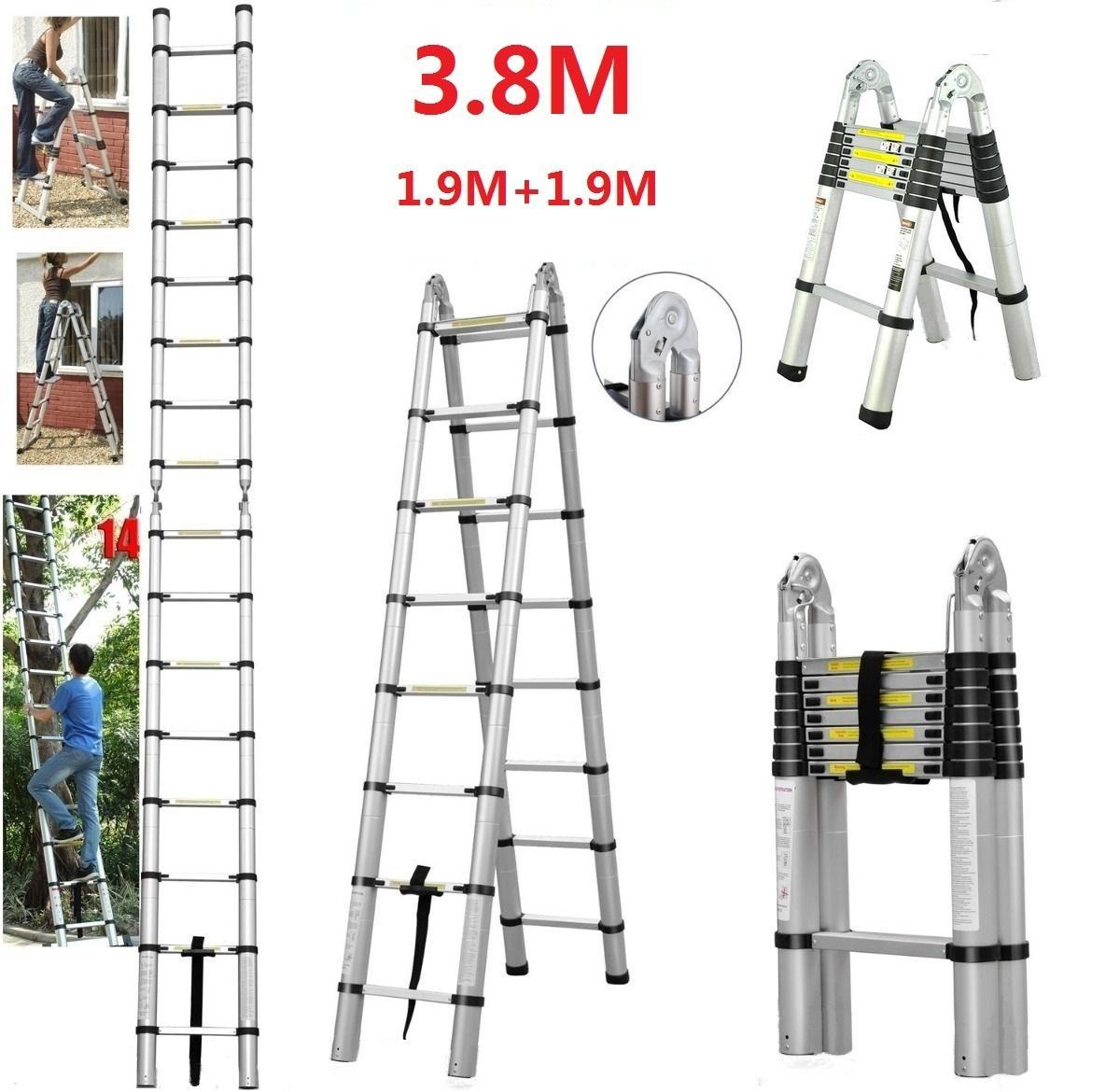 China 3.8m Telescopic Foldable Extendable Multipurpose Aluminium a ...