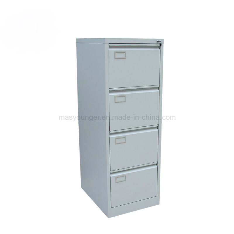 China Office Furniture 4 Drawer Metal Safe Bedside Desk Use Steel Storage Key Lock File Cabinet Knocked Down Structure Vertical