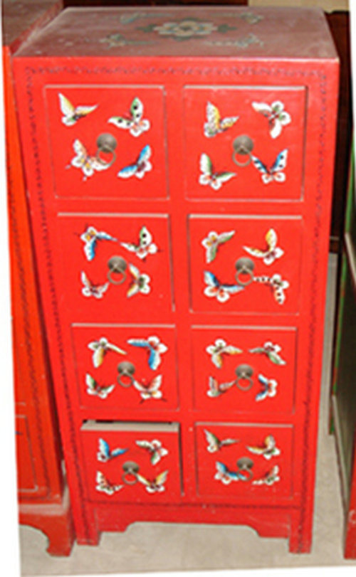 China Antique Furniture Painted Cd Drawer Cabinet Lwb450 China