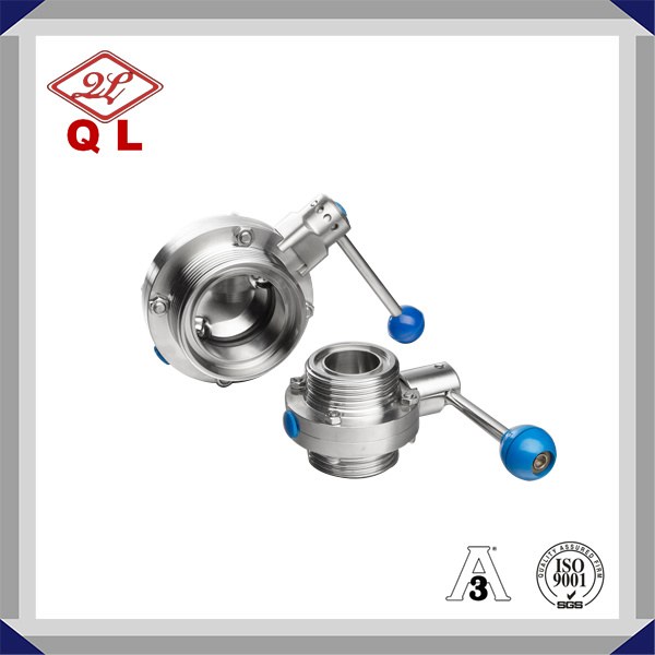 304/316L Sanitary Stainless Steel Clamped Weld Threaded Butterfly Valve pictures & photos