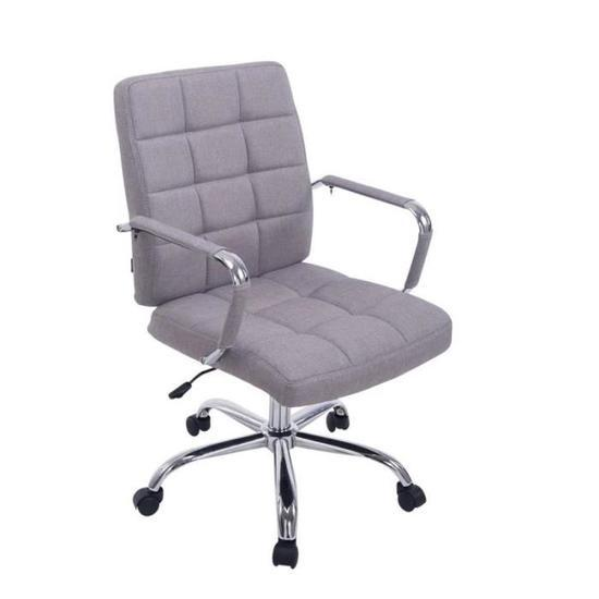 new style 7b609 bf71b [Hot Item] Stylish Soft Padded Light Grey Home Office Computer Desk Chair  (LS-33)